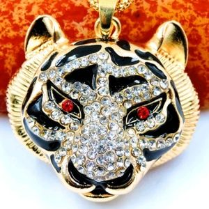 Betsey Johnson Tiger head Pendant Necklace Hot!!!